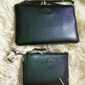 Coach Wristlet and ID Wallet